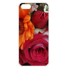 Floral Photography Orange Red Rose Daisy Elegant Flowers Bouquet Apple Iphone 5 Seamless Case (white) by yoursparklingshop