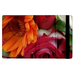 Floral Photography Orange Red Rose Daisy Elegant Flowers Bouquet Apple Ipad 2 Flip Case by yoursparklingshop