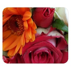 Floral Photography Orange Red Rose Daisy Elegant Flowers Bouquet Double Sided Flano Blanket (small)  by yoursparklingshop