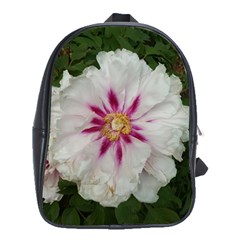 Floral Soft Pink Flower Photography Peony Rose School Bag (large) by yoursparklingshop