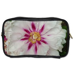 Floral Soft Pink Flower Photography Peony Rose Toiletries Bags by yoursparklingshop