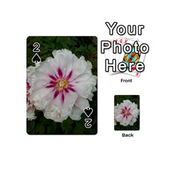 Floral Soft Pink Flower Photography Peony Rose Playing Cards 54 (mini)  by yoursparklingshop
