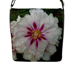 Floral Soft Pink Flower Photography Peony Rose Flap Messenger Bag (l)  by yoursparklingshop