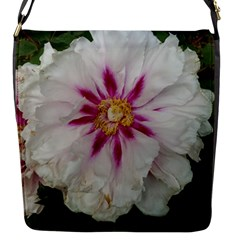 Floral Soft Pink Flower Photography Peony Rose Flap Messenger Bag (s) by yoursparklingshop