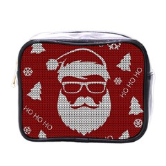 Ugly Christmas Sweater Mini Toiletries Bags by Valentinaart