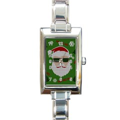 Ugly Christmas Sweater Rectangle Italian Charm Watch by Valentinaart