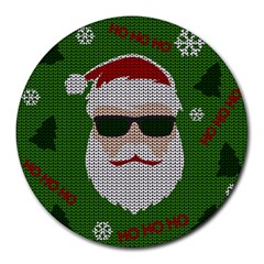Ugly Christmas Sweater Round Mousepads by Valentinaart