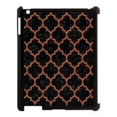 Tile1 Black Marble & Teal Leather (r) Apple Ipad 3/4 Case (black) by trendistuff