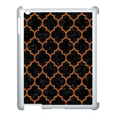 Tile1 Black Marble & Teal Leather (r) Apple Ipad 3/4 Case (white) by trendistuff
