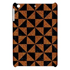 Triangle1 Black Marble & Teal Leather Apple Ipad Mini Hardshell Case by trendistuff