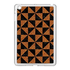 Triangle1 Black Marble & Teal Leather Apple Ipad Mini Case (white) by trendistuff