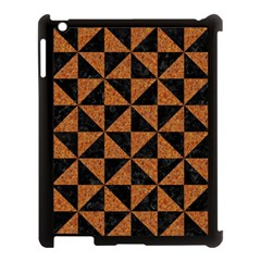 Triangle1 Black Marble & Teal Leather Apple Ipad 3/4 Case (black) by trendistuff