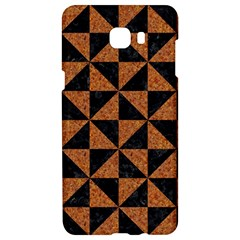 Triangle1 Black Marble & Teal Leather Samsung C9 Pro Hardshell Case  by trendistuff