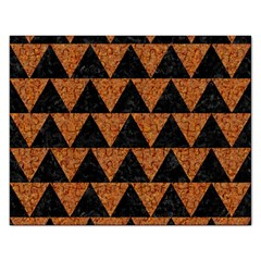 Triangle2 Black Marble & Teal Leather Rectangular Jigsaw Puzzl by trendistuff