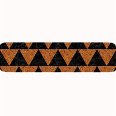 Triangle2 Black Marble & Teal Leather Large Bar Mats by trendistuff