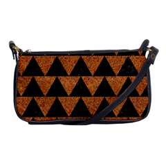 Triangle2 Black Marble & Teal Leather Shoulder Clutch Bags by trendistuff