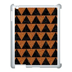Triangle2 Black Marble & Teal Leather Apple Ipad 3/4 Case (white) by trendistuff