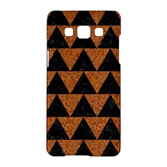 Triangle2 Black Marble & Teal Leather Samsung Galaxy A5 Hardshell Case  by trendistuff