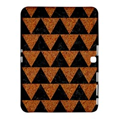 Triangle2 Black Marble & Teal Leather Samsung Galaxy Tab 4 (10 1 ) Hardshell Case  by trendistuff