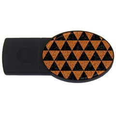 Triangle3 Black Marble & Teal Leather Usb Flash Drive Oval (4 Gb) by trendistuff