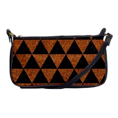Triangle3 Black Marble & Teal Leather Shoulder Clutch Bags by trendistuff