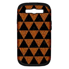 Triangle3 Black Marble & Teal Leather Samsung Galaxy S Iii Hardshell Case (pc+silicone) by trendistuff