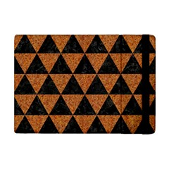Triangle3 Black Marble & Teal Leather Apple Ipad Mini Flip Case