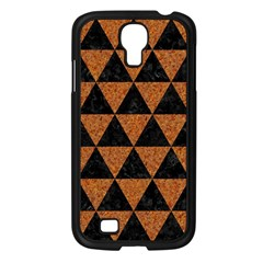 Triangle3 Black Marble & Teal Leather Samsung Galaxy S4 I9500/ I9505 Case (black)