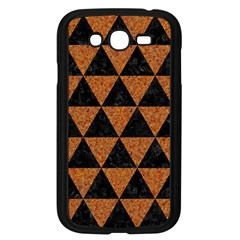 Triangle3 Black Marble & Teal Leather Samsung Galaxy Grand Duos I9082 Case (black) by trendistuff