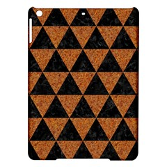 Triangle3 Black Marble & Teal Leather Ipad Air Hardshell Cases by trendistuff