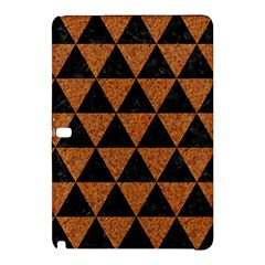 Triangle3 Black Marble & Teal Leather Samsung Galaxy Tab Pro 12 2 Hardshell Case by trendistuff