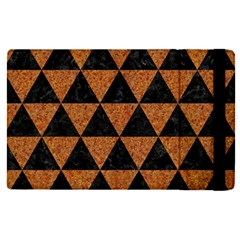 Triangle3 Black Marble & Teal Leather Apple Ipad Pro 12 9   Flip Case by trendistuff