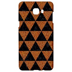 Triangle3 Black Marble & Teal Leather Samsung C9 Pro Hardshell Case  by trendistuff