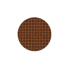 Woven1 Black Marble & Teal Leather Golf Ball Marker (10 Pack) by trendistuff
