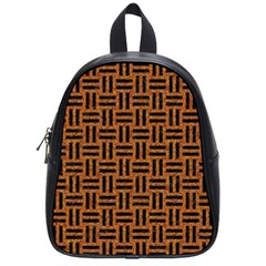 Woven1 Black Marble & Teal Leather School Bag (small) by trendistuff