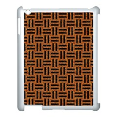 Woven1 Black Marble & Teal Leather Apple Ipad 3/4 Case (white) by trendistuff
