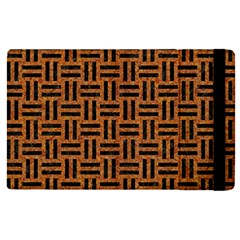 Woven1 Black Marble & Teal Leather Apple Ipad Pro 12 9   Flip Case by trendistuff