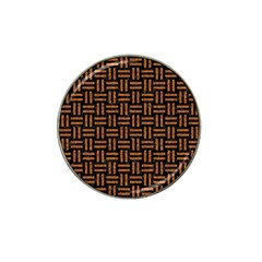 Woven1 Black Marble & Teal Leather (r)	 Hat Clip Ball Marker by trendistuff