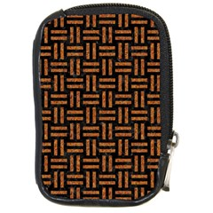 Woven1 Black Marble & Teal Leather (r)	 Compact Camera Cases by trendistuff