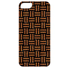 Woven1 Black Marble & Teal Leather (r)	 Apple Iphone 5 Classic Hardshell Case by trendistuff