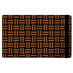 Woven1 Black Marble & Teal Leather (r)	 Apple Ipad 2 Flip Case by trendistuff