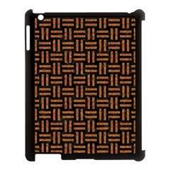 Woven1 Black Marble & Teal Leather (r)	 Apple Ipad 3/4 Case (black) by trendistuff