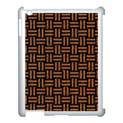 Woven1 Black Marble & Teal Leather (r)	 Apple Ipad 3/4 Case (white) by trendistuff
