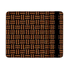 Woven1 Black Marble & Teal Leather (r)	 Samsung Galaxy Tab Pro 8 4  Flip Case by trendistuff