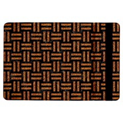 Woven1 Black Marble & Teal Leather (r)	 Ipad Air Flip by trendistuff