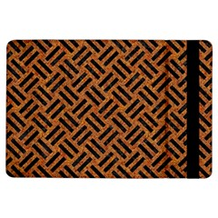 Woven2 Black Marble & Teal Leather Ipad Air Flip by trendistuff