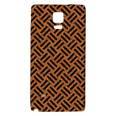 Woven2 Black Marble & Teal Leather Galaxy Note 4 Back Case by trendistuff