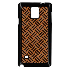 Woven2 Black Marble & Teal Leather Samsung Galaxy Note 4 Case (black) by trendistuff