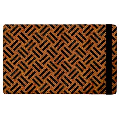 Woven2 Black Marble & Teal Leather Apple Ipad Pro 12 9   Flip Case by trendistuff
