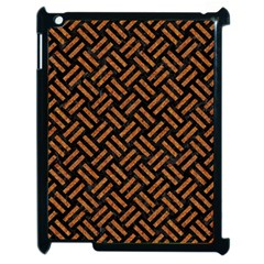 Woven2 Black Marble & Teal Leather (r) Apple Ipad 2 Case (black) by trendistuff
